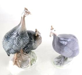 Two Continental Porcelain Peafowl Groups