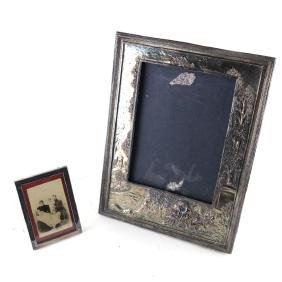 Two Silver Metal Picture Frames