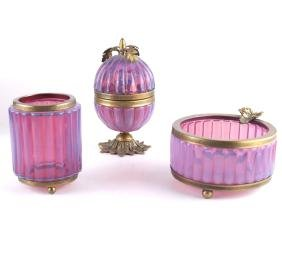 3-Piece Opaline Smoking Set