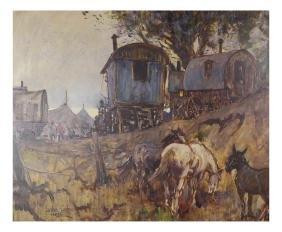 Leslie Cope, Western Scene - Oil/Canvas