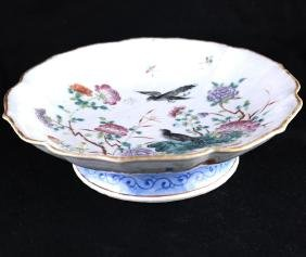 Chinese Rose Medallion Compote