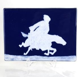 Porcelain Plaque Relief With A Cossack