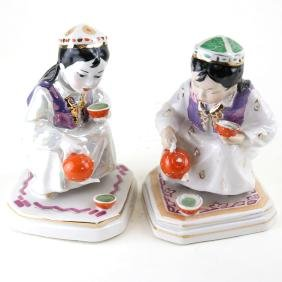 Two Russian Porcelain Tea Figures