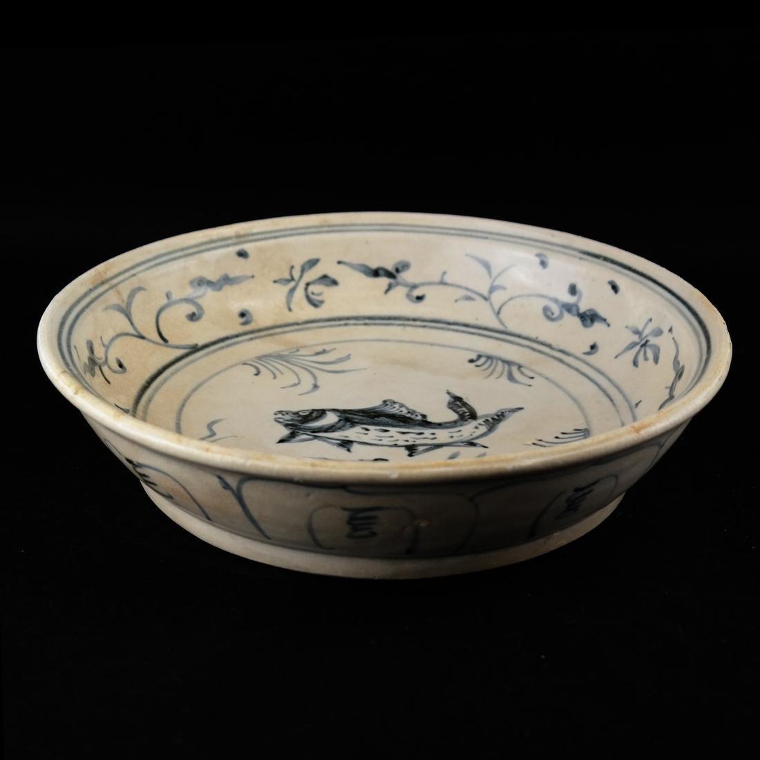 Early Chinese Blue & White Ceramic Dish