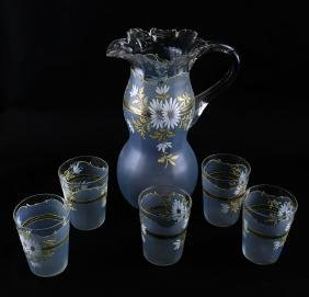 Victorian-Style Glass Iced Tea Set