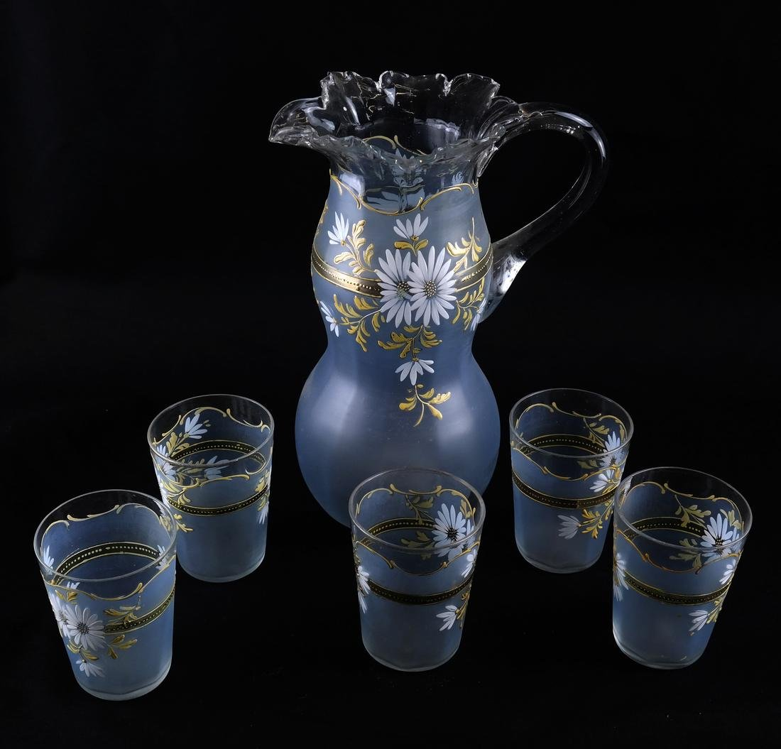 Victorian-Style Glass Iced Tea Set