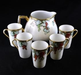 Bavarian Parcel Gilt Porcelain Wine Set