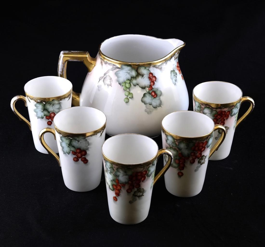 Bavarian Parcel Gilt Porcelain Wine Set