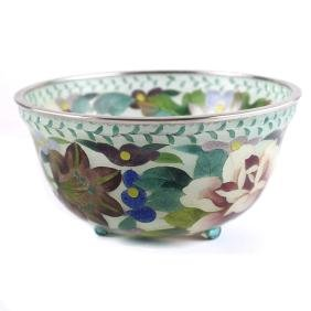 Japanese Plique a Jour Bowl