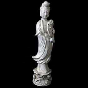 Chinese Blanc de Chine Female Figure