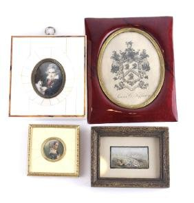 Four Framed Miniatures