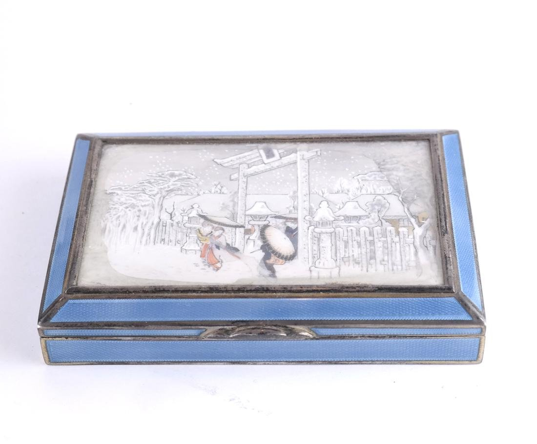 Austrian Silver and Enamel Box