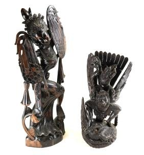 Two Southeast Asian Carved Figures