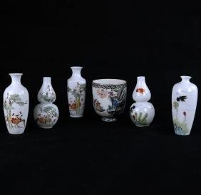 Six Chinese Egg Shell Articles