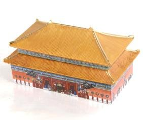 Chinese Porcelain Forbidden Palace Box