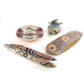 Five Aboriginal Decorated Objects
