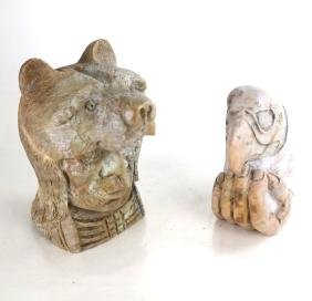 Two Native American Carved Stone Figures