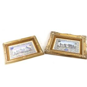 Pair of Continental Porcelain Plaques