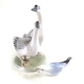 Danish Bird anb Royal Copenhagen Geese Porcelain