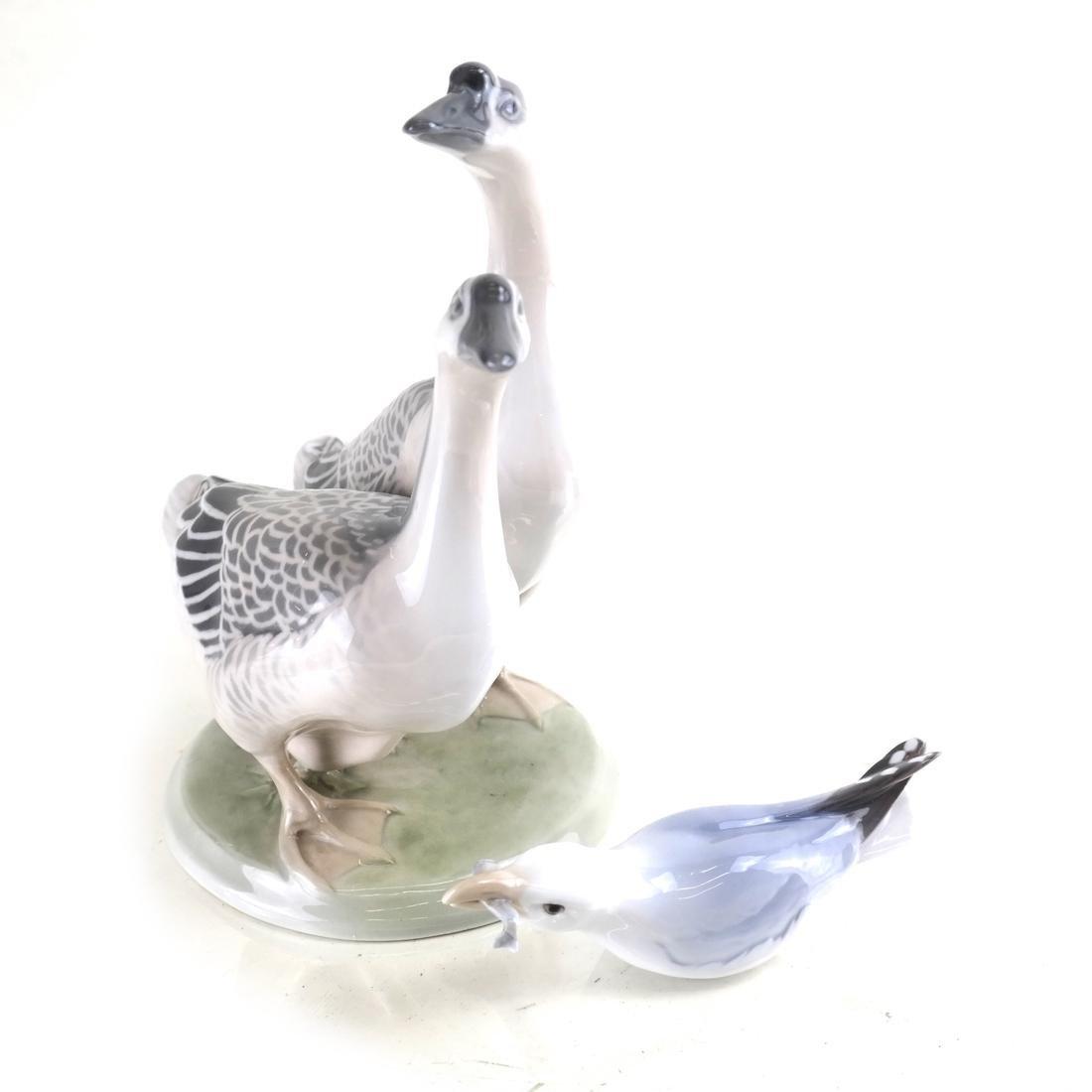 Danish Bird anb Royal Copenhagen Geese Porcelain