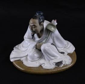 Chinese Pottery Seated Figure