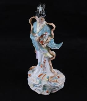 Chinese Porcelain Figure of A Beauty