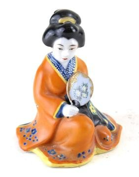 Japanese Porcelain Seated Geisha