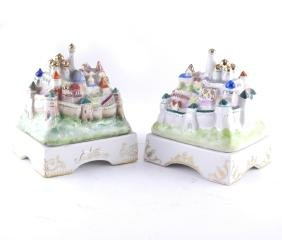 Pair of Russian Porcelain Boxes