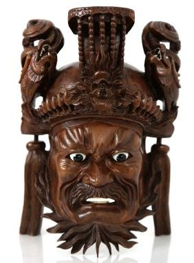 Chiense Carved wood Mask figure