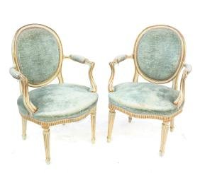 Pair of Classical Armchairs