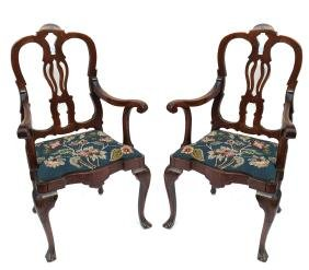 Pair of Rococo-Style Armchairs