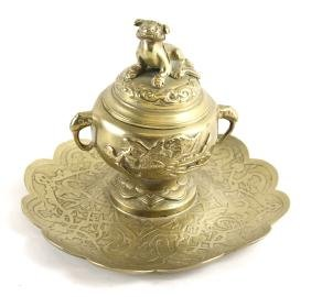 Asian-Style Bronze Inkwell