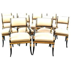 Set of 10 Regency-Style Chairs
