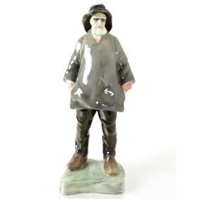 Porcelain Figurine, German Fisherman