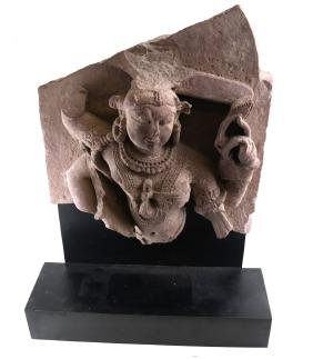 India carving Sandstone Early Relief of Shiva Nataraja