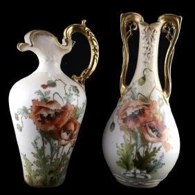 Teplitz Porcelain Vase and Water pitcher
