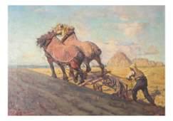 Adriaan Herman Gouwe, Farm Scene Painting