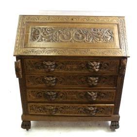 Italian Ornate Slant Front Desk