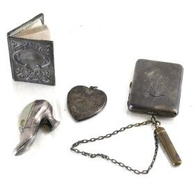 Four Silver Small Items