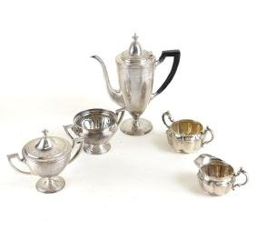 Five American Sterling Coffee Articles