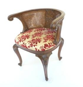 French Carved Wood Bergere
