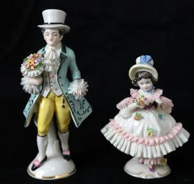 Pair of Porcelain Figurines: Children