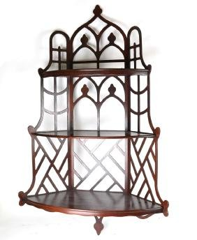 Chippendale-Style Wall Etagere