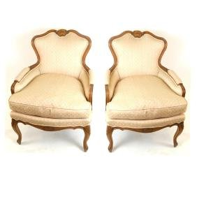 Pair of Provincial-Style Bergeres