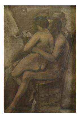 After Manzu, Nude Print