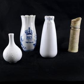Four Assorted Vases