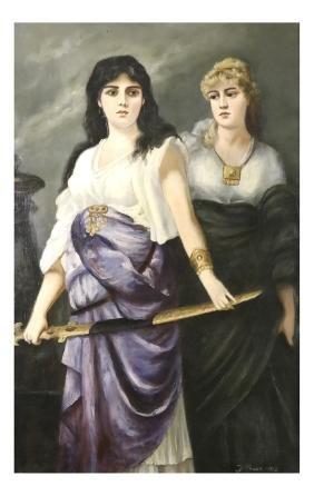 F. Houck, Two Ladies