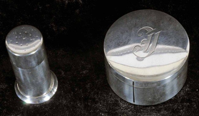 407: 2 Sterling Silver Pcs.  Stamp Box & a Tiffany Ster