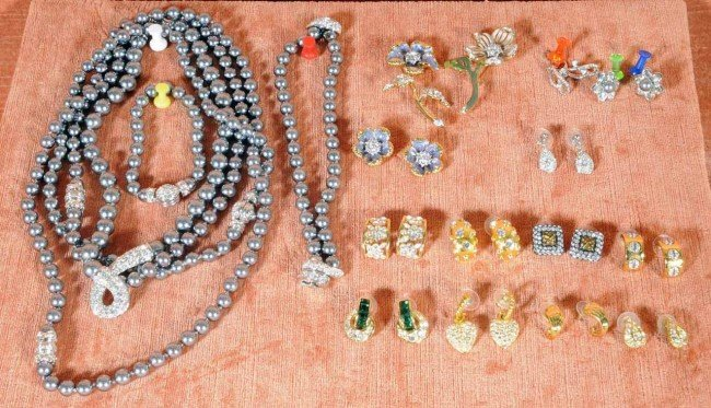 408: Lot of Nolan Miller Costume Jewelry.  Earrings, Ne