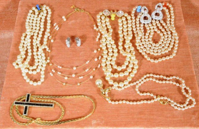 415: Nolan Miller Lot of Costume Jewelry.  Necklaces.